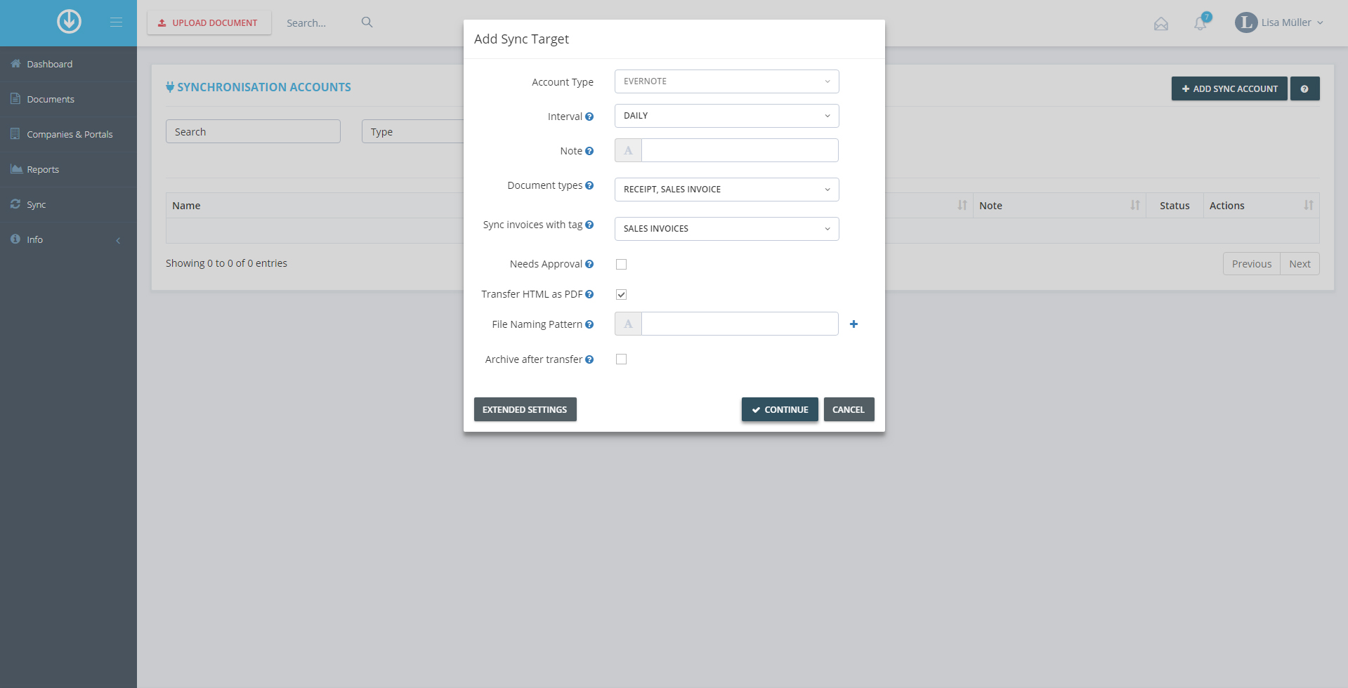 Evernote Invoice Collector - GetMyInvoices