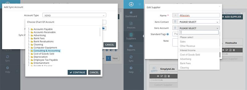 4. Configure sync account