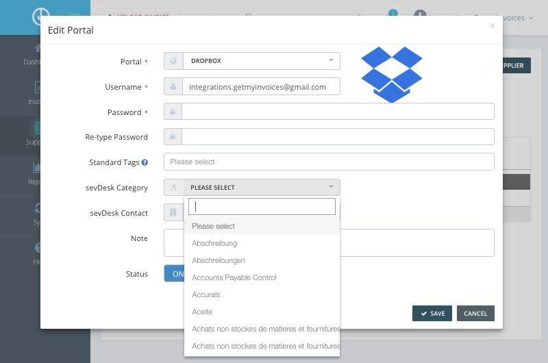 4. Configure Supplier setting for sevDesk