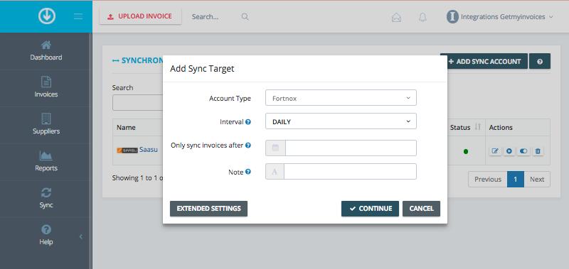 2. Configure sync settings