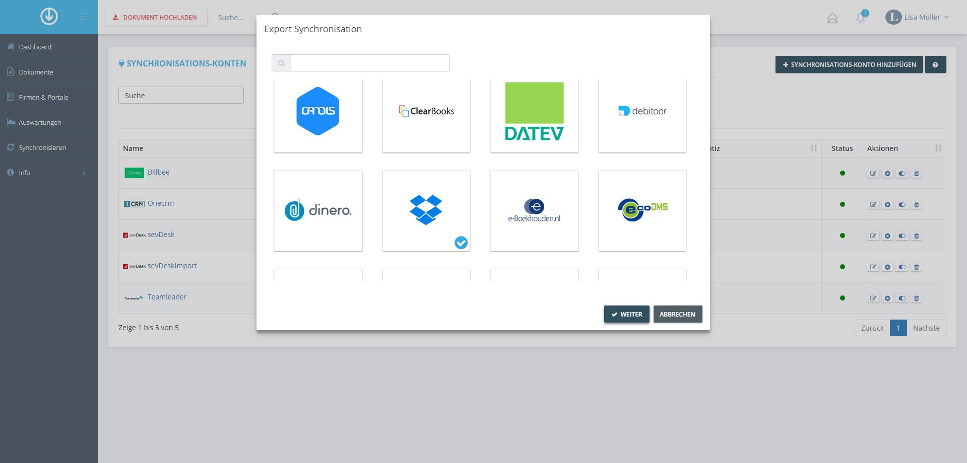 1. Document Export: Begin Integration Process
