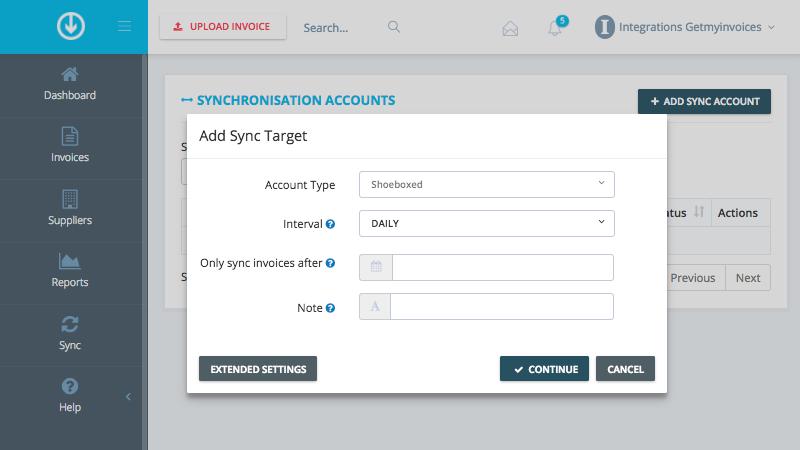 2. Configureer synchronisatie instellingen