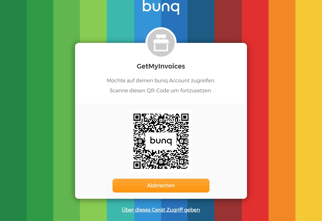2. Connect GetMyInvoices with bunq
