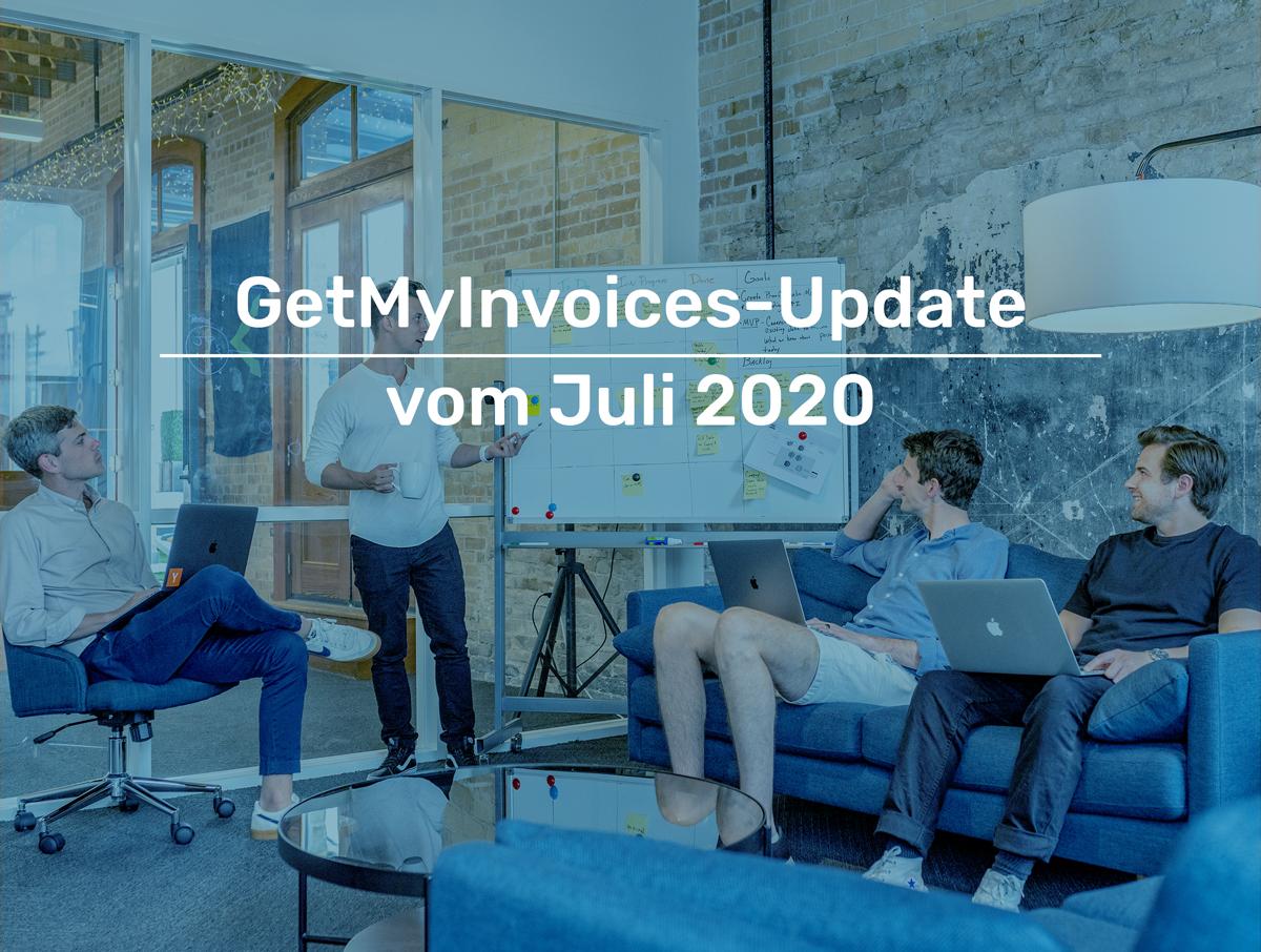 Bild: GetMyInvoices-Update vom Juli 2020