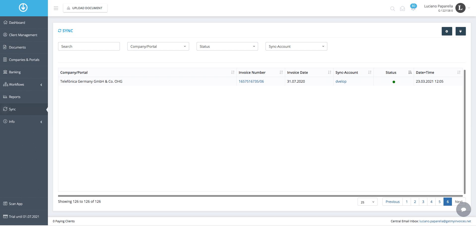 3. Exportation de documents : Intégration terminée