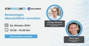 Online-Seminar von GetMyInvoices und DocuWare