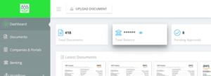 Dashboard in GetMyInvoices