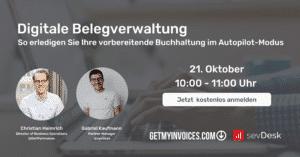 Bild Online-Seminar von GetMyInvoices und sevDesk
